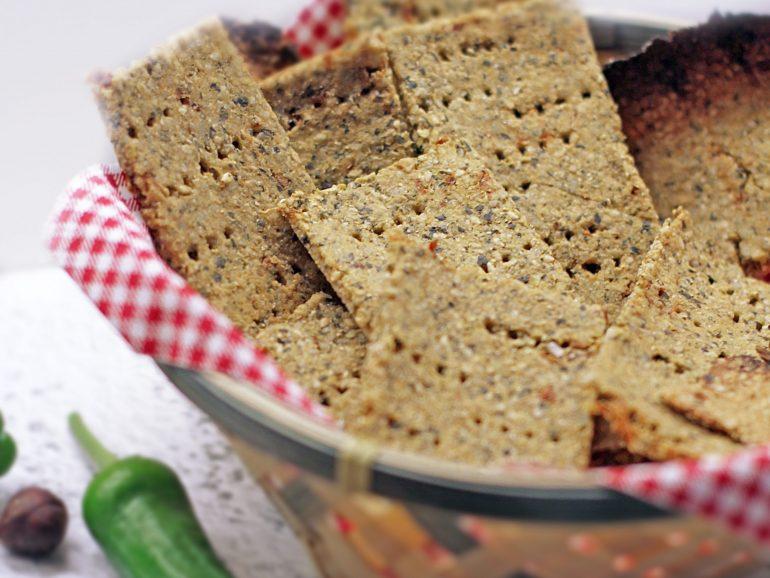 Bolachas crackers de tomate seco